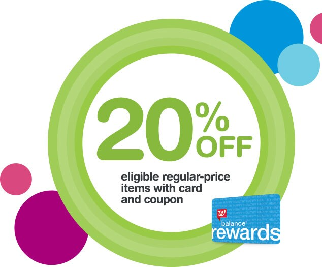 20% OFF eligible regular-price items with card and coupon. Balance(R) Rewards.