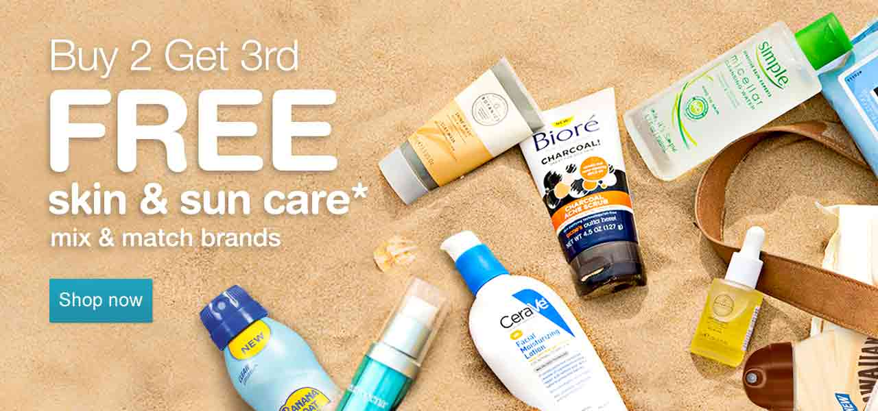 Buy 2 Get 3rd FREE skin & sun care.* Mix and match brands. Shop now.
