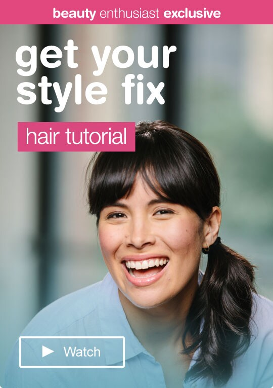 Beauty Enthusiast Exclusive - Get your style fix. Hair tutorial.