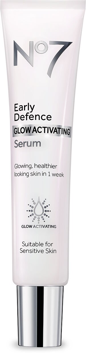 No7's NEW Early Defence GLOW ACTIVATING Serum.