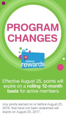 Balance(R) Rewards Program Changes. Effective August 25, points will expire on a rolling 12-month basis for active members. Any points earned on or before August 25, 2016 that have not been redeemed will expire on August 25, 2017.