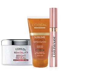 Select L'Oréal Paris Cosmetics, Skin Care or Sublime Bronze Self Tanner