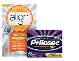 Select Digestive Care from Align and Prilosec
