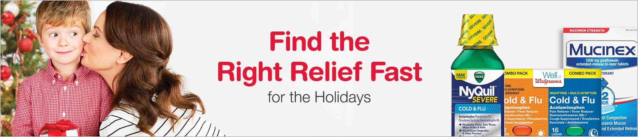 Find the right relief fast for the Holidays.