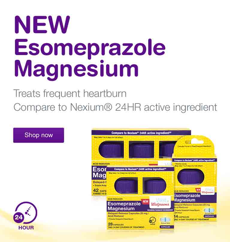 NEW Esomeprazole Magnesium. Treats frequent heartburn. Compare to Nexium(R) 24HR active ingredient. Shop now.