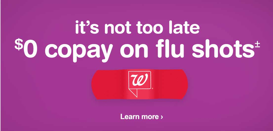 itu0027s not too late 0 copay on flu shots learn more