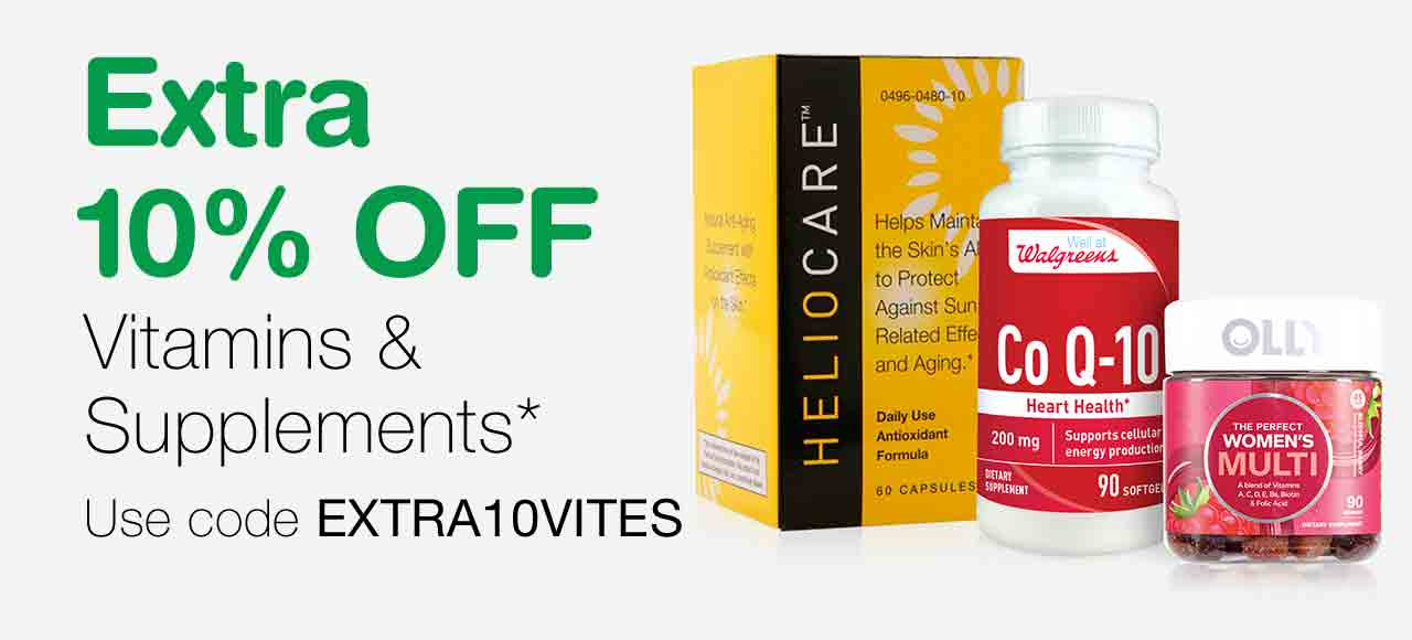 Extra 10% OFF Vitamins & Supplements.* Use code EXTRA10VITES.
