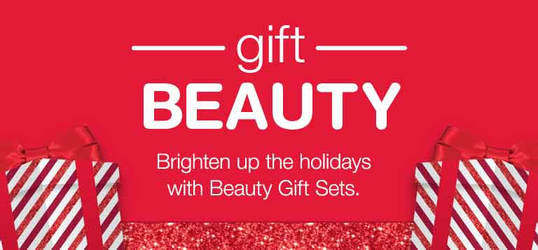 Gift Beauty. Brighten up the holidays with Beauty Gift Sets.
