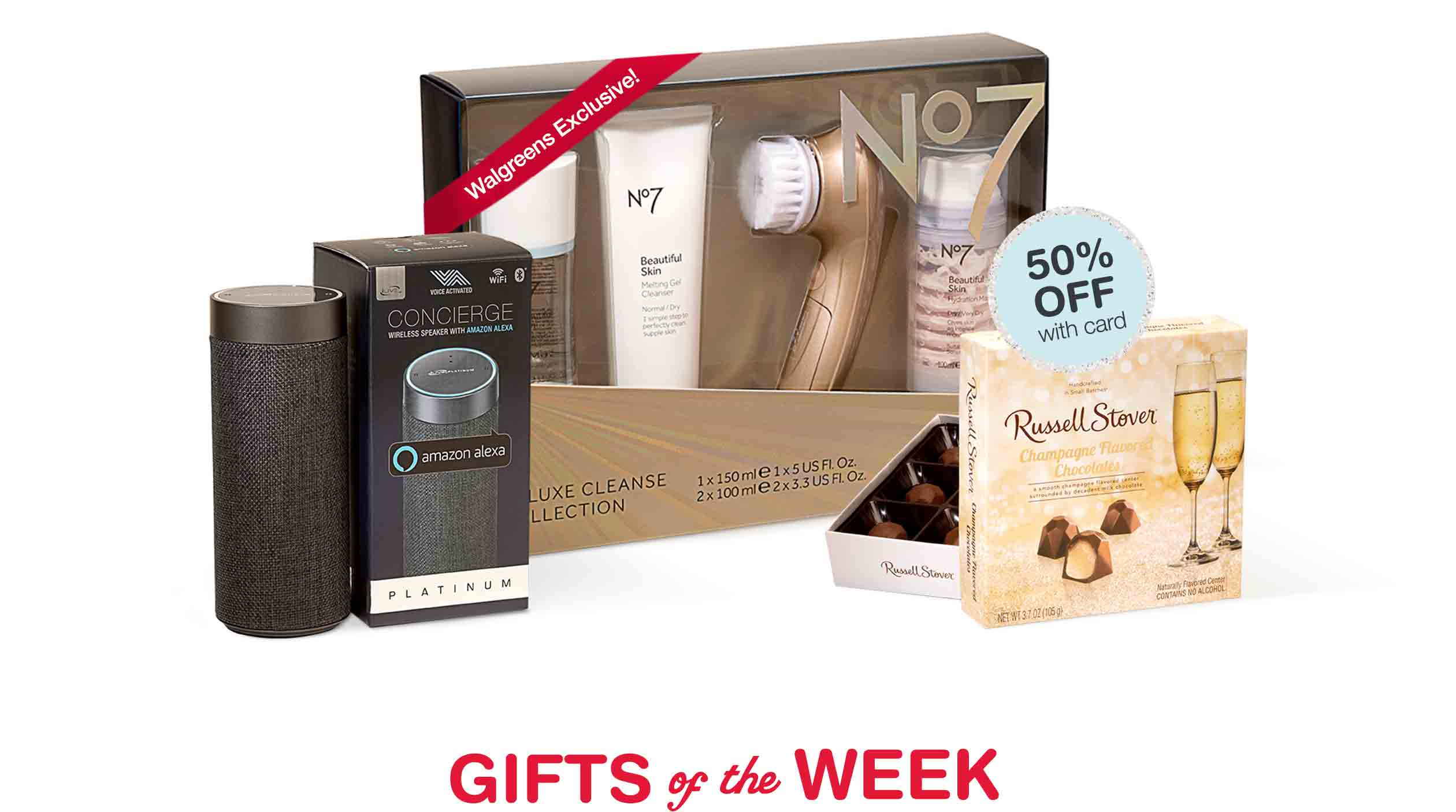 Gifts of the Week. 50% OFF with card.