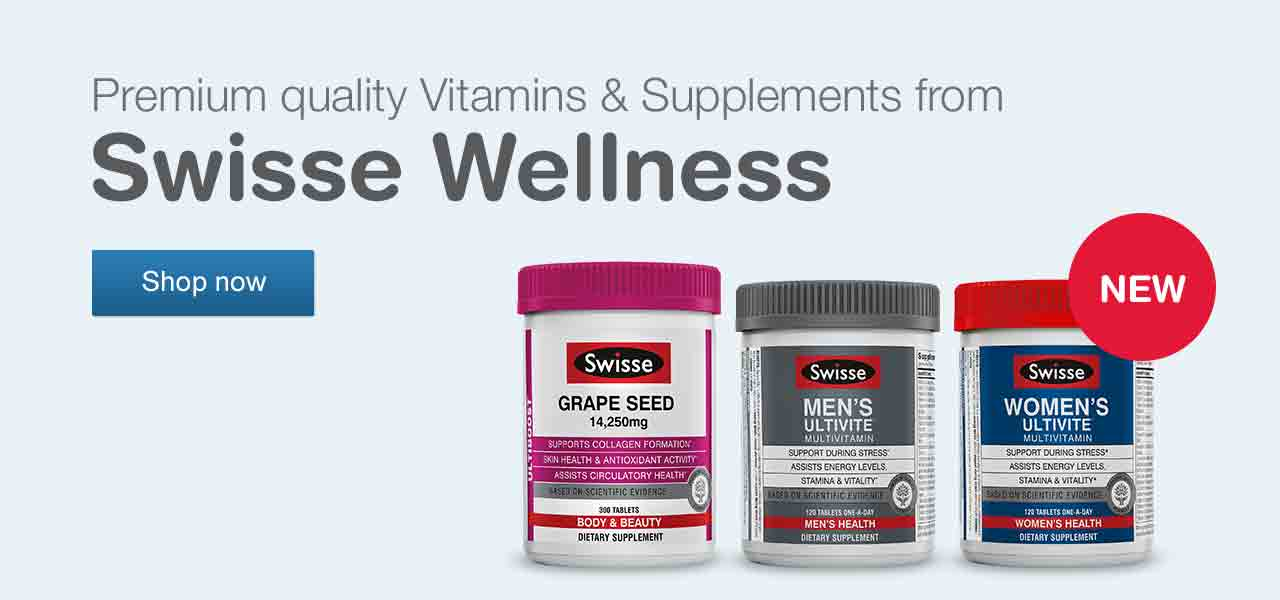 NEW Premium quality Vitamins & Supplements from Swisse Wellness. Shop now.