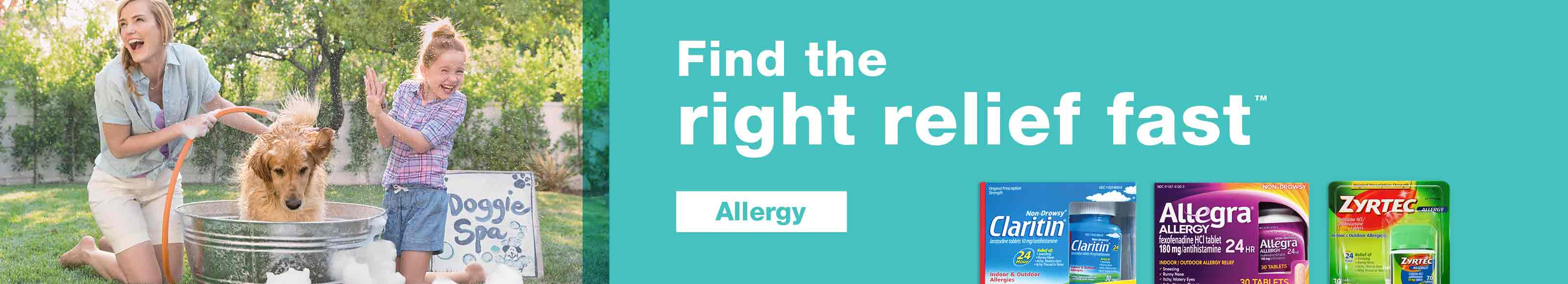 Find the right relief fast.(TM) Allergy