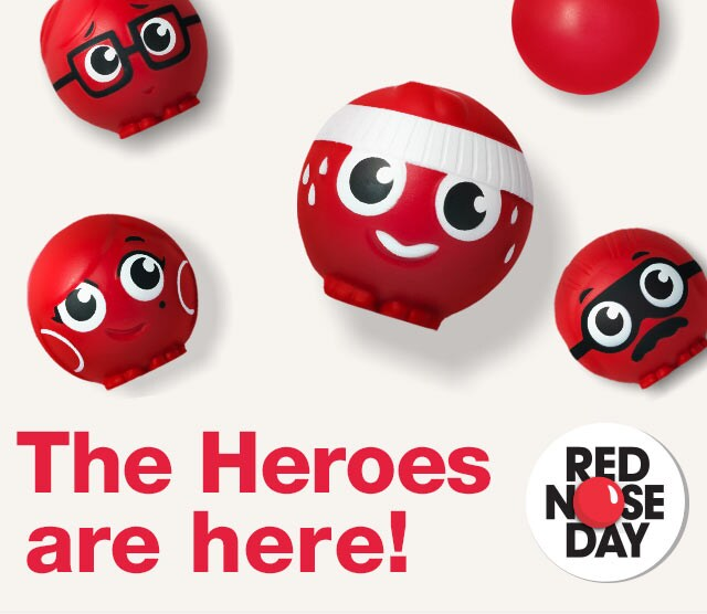 Red Nose Day. The Heroes are here!