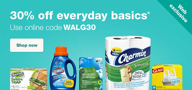 WEB EXCLUSIVE - 30% off everyday basics.* Use online code WALG30. Shop now.