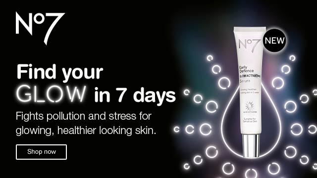 NEW No7. Find your Glow in 7 days. Fights pollution and stress for glowing, healthier looking skin. Shop now.