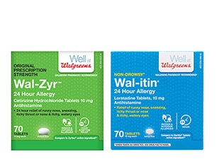 Walgreens brand allergy relief