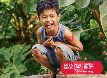 Walgreens - Get a Shot. Give a Shot.(R) It's that easy.