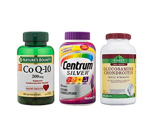 vitamins and supplements from Nature's Bounty, Centrum and more