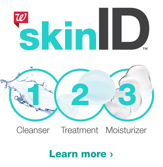 Walgreens SkinID. 1, 2, 3. Cleanser, Treatment, Moisturizer. Learn more.