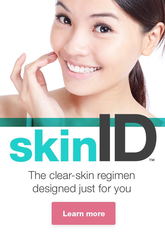 skinID(TM) - The clear-skin regimen designed just for you. Learn more.