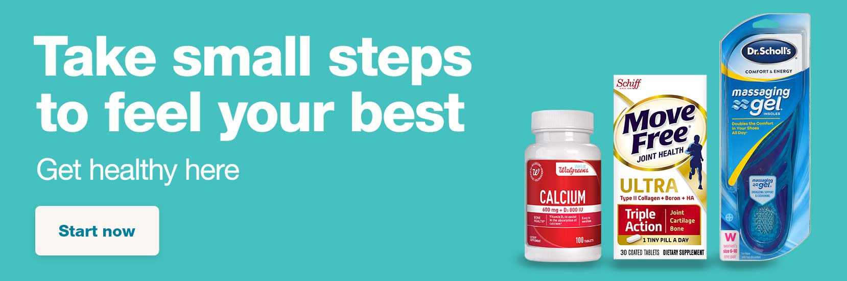Take small steps to feel your best. Get healthy here. Start now.