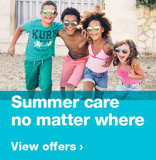 Summer care no matter where. View offers.