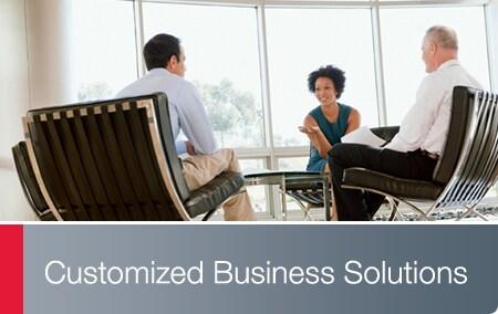 Customized Business Solutions - Business associates having a conversation