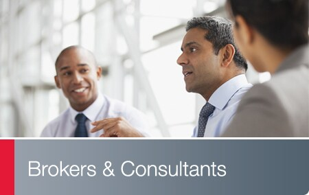 Consultants and Brokers - Business associates having a discussion