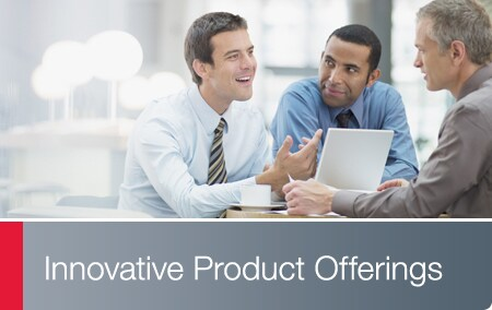 Innovative Product Offerings - Business associates conversing