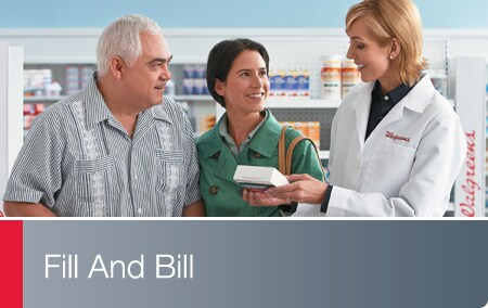Fill and Bill - Walgreens Pharmacist discussing medication with patient