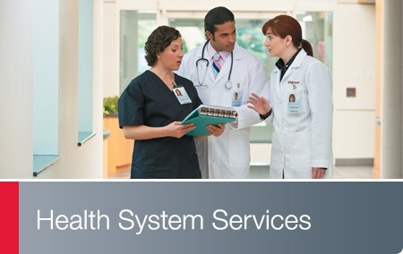 Health System Services - Team of clinicians in hospital setting