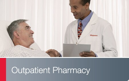 Outpatient Pharmacy - Walgreens pharmacist at hospital bedside of patient