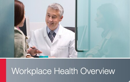 Workplace Health - Doctor meeting with patient