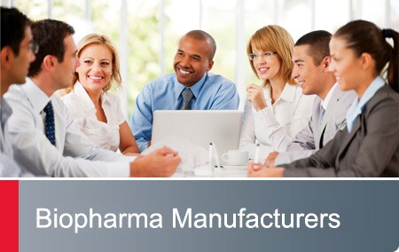 Biopharma Manufacturers - business associates in a meeting
