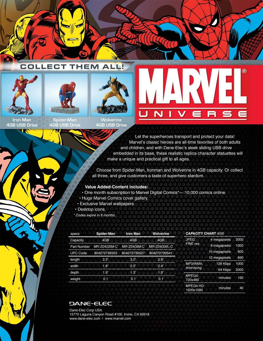 Marvel USB Data