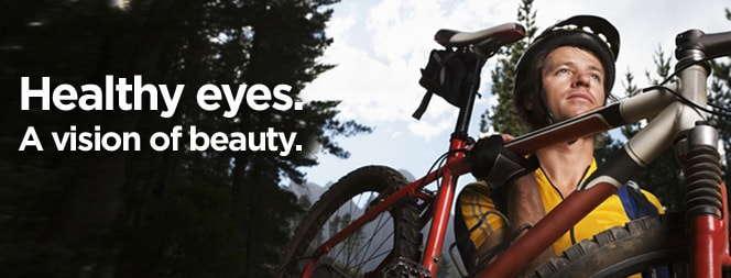Healthy eyes. A vision of beauty.