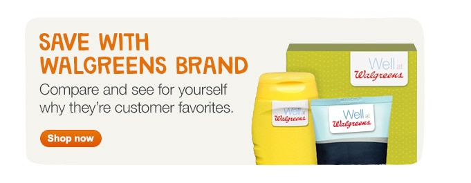 Save with Walgreens Brand. See why they're customer favorites. Shop now.