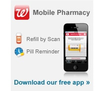 download the walgreens mobile app to refill by scan and set up pill reminder - Walgreens Prescription Card
