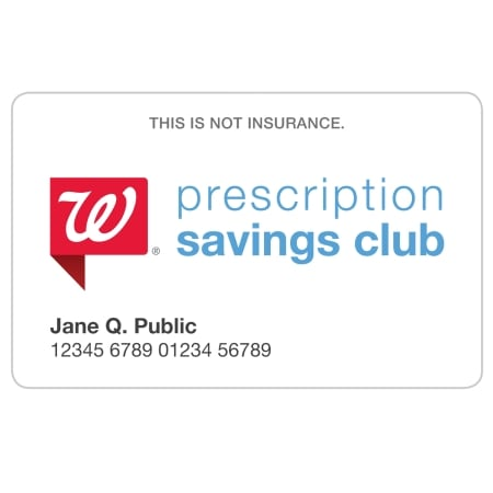 Prescription Savings Club Individual Membership Card | Walgreens